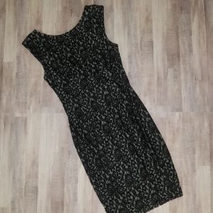 French Connection Black Lace Wiggle Dress